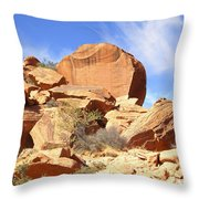 Giant Sandstone Boulders Throw Pillow