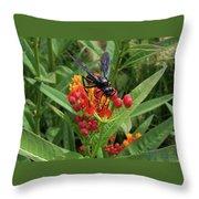 Giant Wasp Throw Pillow