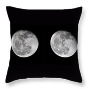 Gibbous Moon Throw Pillow