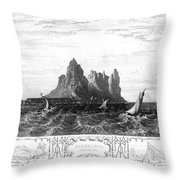 Gibraltar, 19th Century Throw Pillow