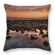 Gibraltar And Africa And Spain In One Shot From Marbella Throw Pillow
