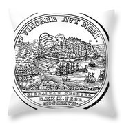 Gibraltar: Medal, 1727 Throw Pillow