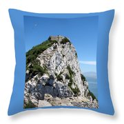 Gibraltar's Moorish Castle Throw Pillow