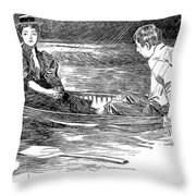 Gibson: A Drama, 1895 Throw Pillow