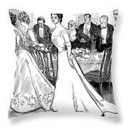 Gibson: After-dinner, 1899 Throw Pillow