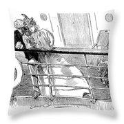 Gibson An Ill Wind, 1897 Throw Pillow