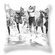 Gibson: Bathing, 1892 Throw Pillow