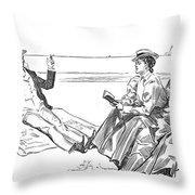 Gibson: Beach, 1900 Throw Pillow