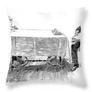Gibson: Breakfast, 1898 Throw Pillow