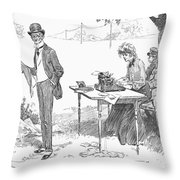 Gibson: Businessman, 1903 Throw Pillow