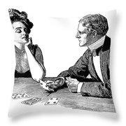 Cards, 1900 Throw Pillow