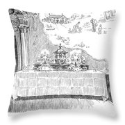 Gibson: Castle In The Air Throw Pillow