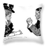 Gibson: Couple, 1896 Throw Pillow