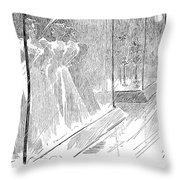 Gibson: Fooled Again, 1895 Throw Pillow