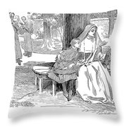 Gibson: Friends, 1901 Throw Pillow