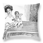 Gibson: Gibson Girl, 1901 Throw Pillow