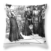 Gibson Girl, 1890s Throw Pillow