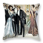 Gibson Girl, 1900 Throw Pillow