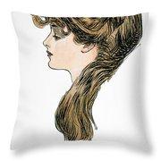Gibson Girl, 1903 Throw Pillow