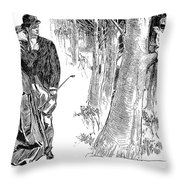 Gibson: Highwayman, 1898 Throw Pillow