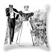 In Garden Of Youth Throw Pillow