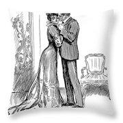 Kiss, 1903 Throw Pillow