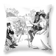 Gibson: Painting, 1901 Throw Pillow