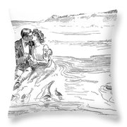 Turning Tide, 1901 Throw Pillow