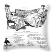 Gibson: Women, 1897 Throw Pillow