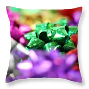 Gift Bows Close Up Throw Pillow