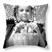 Gift For The Virgin Of Guadalupe Throw Pillow