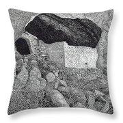 Gila Cliff Dwelings Big Room Throw Pillow