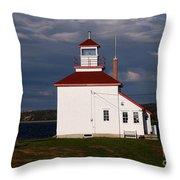 Gilbert Cove Lighthouse Throw Pillow