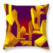 Gilded City  Throw Pillow