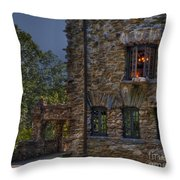 Gillette Castle Exterior Hdr Throw Pillow