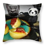 Ginny Can't Wait To Taste Stuffed Shells Throw Pillow