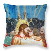 Giotto: Betrayal Of Christ Throw Pillow