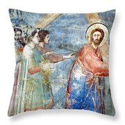 Giotto: Road To Calvary Throw Pillow