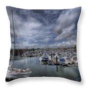 Gipsy Moth Iv At Milford Haven Marina Throw Pillow