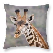 Giraffe Close-up Throw Pillow