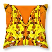 Giraffe-dragons Throw Pillow