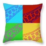 Giraffe Pop Art Throw Pillow