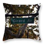 Girard Avenue In Philadelphia Throw Pillow