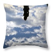 Girl And The Sky Throw Pillow