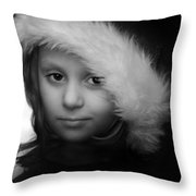 Girl With  Hat Throw Pillow