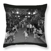 Girl With Magic Wand Throw Pillow