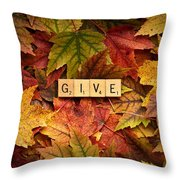 Give-autumn Throw Pillow