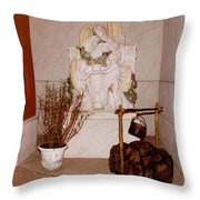 Give Her Flowers Throw Pillow