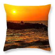 Give Your Cares To God Throw Pillow