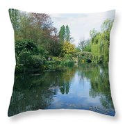 Giverny Gardens, Normandy Region Throw Pillow